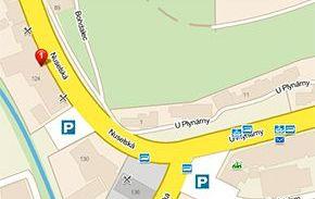 Lokace prodejny vyznačená na mapě