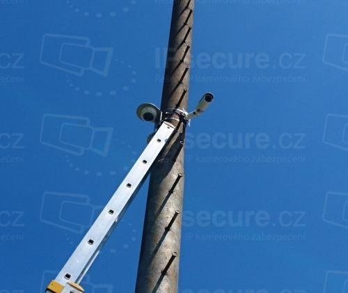 Instalace IP kamery VIVOTEK IB8377-H s adaptérem BR-20 na stožár