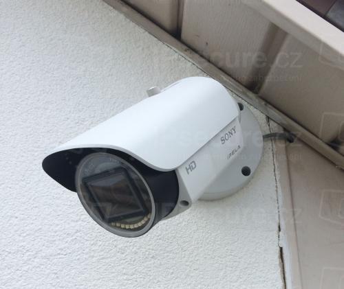 Instalace IP kamery SONY SNC-EB632R na rodinný dům