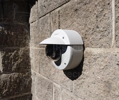 Instalace IP kamery SONY SNC-DH160 na zděný plot