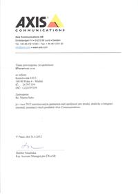 Montážní partner AXIS pro rok 2012
