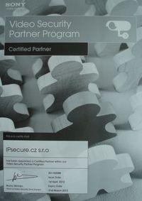 Certifikovaný partner SONY pro rok 2012