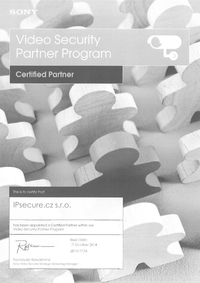 Certifikovaný partner SONY pro rok 2014