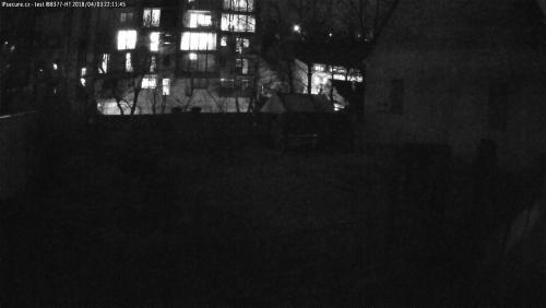 Záběr z testované kamery VIVOTEK IB8377-HT