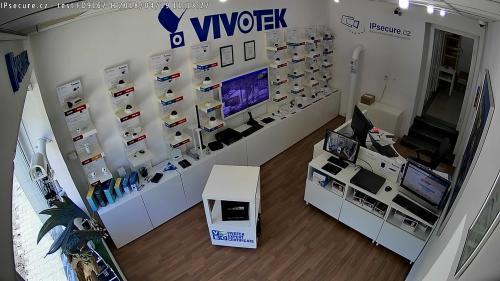Záběr z testované kamery VIVOTEK FD9167-H