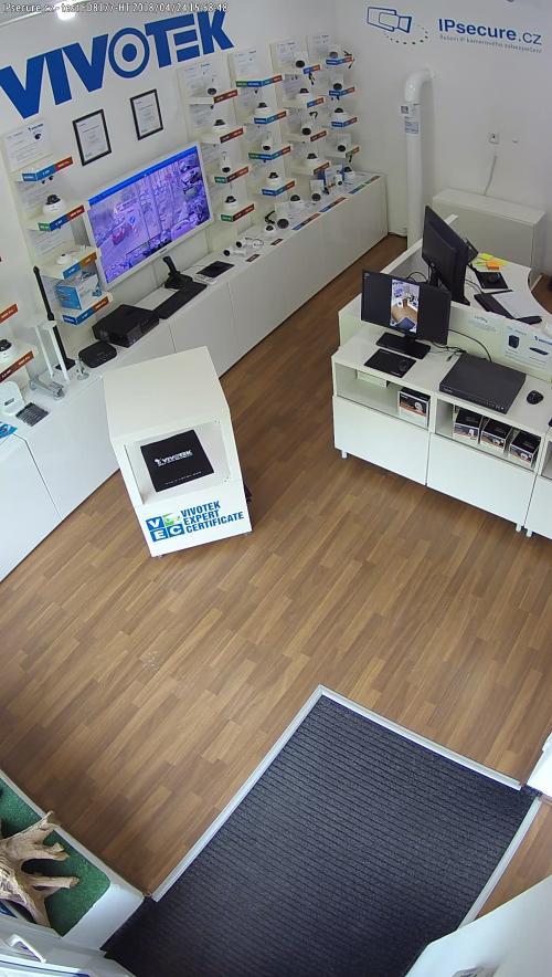 Záběr z testované kamery VIVOTEK FD8177-HT