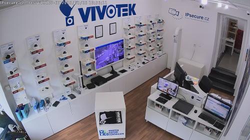 Záběr z testované kamery VIVOTEK FD9167-HT