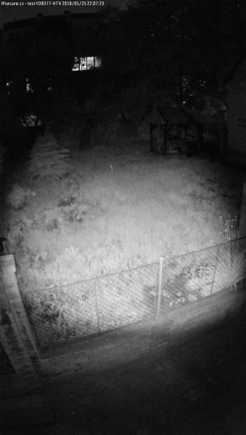 Záběr z testované kamery VIVOTEK FD8377-HTV