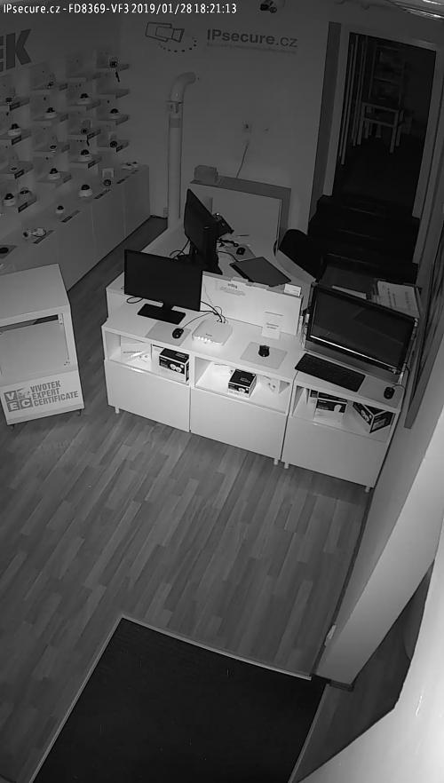 Záběr z testované kamery VIVOTEK FD8369A-VF3 GREY