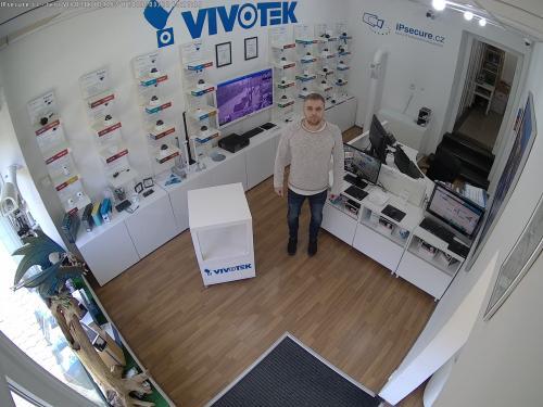 Záběr z testované kamery VIVOTEK FD9187-H