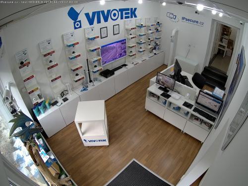 Záběr z testované kamery VIVOTEK FD9189-H