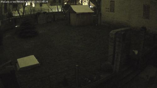 Záběr z testované kamery VIVOTEK IB9360-H