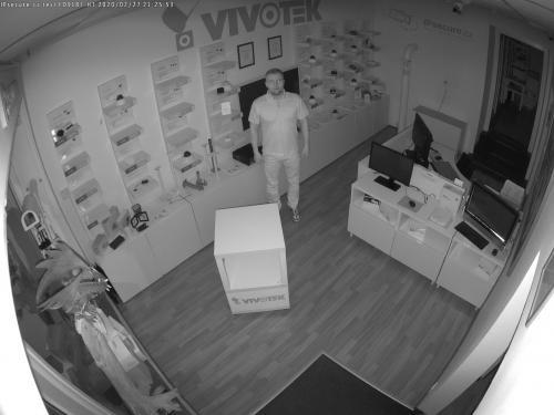 Záběr z testované kamery VIVOTEK FD9187-HT