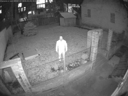 Záběr z testované kamery VIVOTEK IB9387-HT