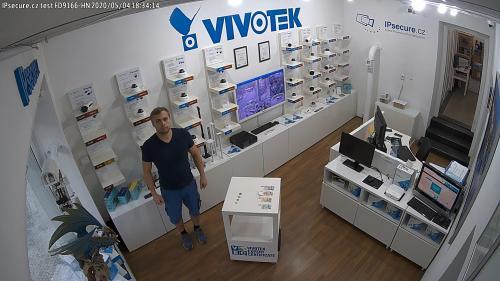 Záběr z testované kamery VIVOTEK FD9166-HN