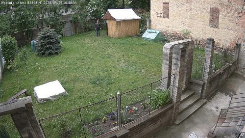 Záběr z testované kamery VIVOTEK IB9368-HT
