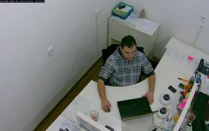 Záběr z IP kamery VIVOTEK PD8136