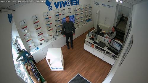Záběr z testované kamery VIVOTEK FD816BA-HF2