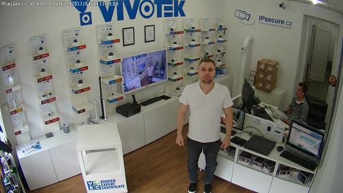 Záběr z testované kamery VIVOTEK VC8101-M1