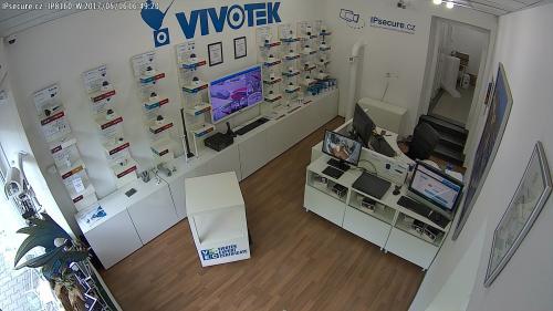 Záběr z testované kamery VIVOTEK IP8160-W