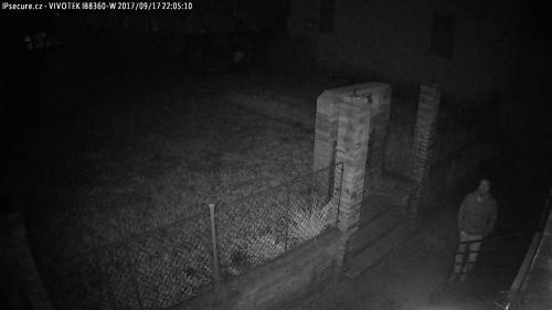 Záběr z testované kamery VIVOTEK IB8360-W