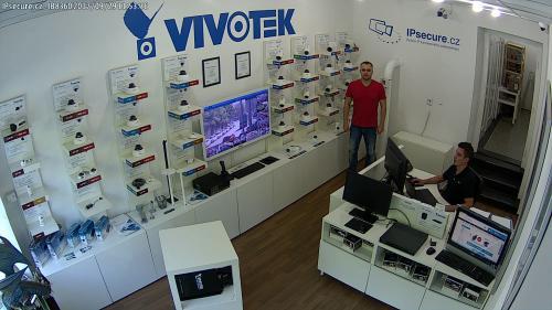 Záběr z testované kamery VIVOTEK IB8360